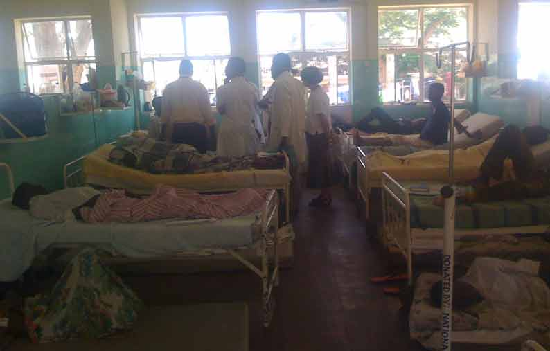 A medical ward at QECH Blantyre